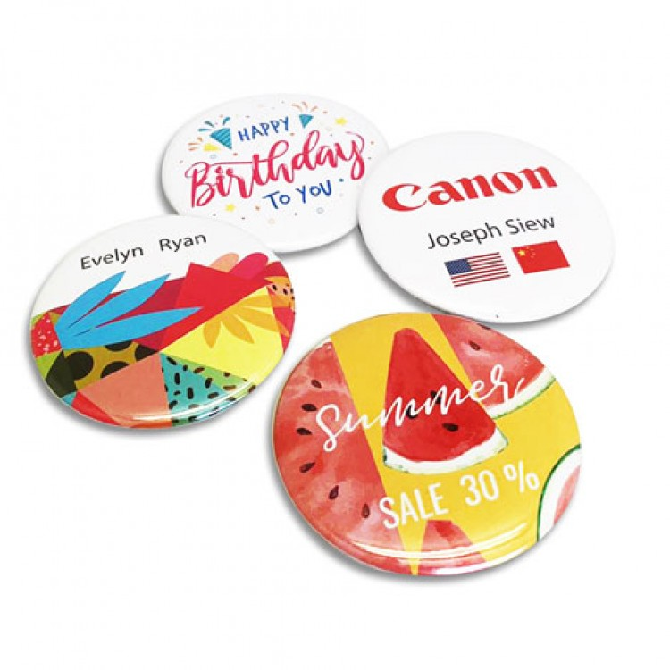 Button Name Badges 56mm