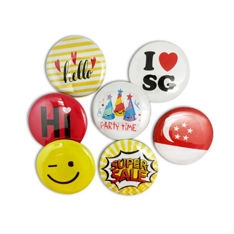 Button Name Badges 32mm