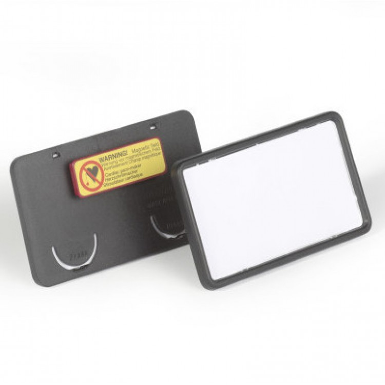 Name Badge Clip Card 8129 With Magnet 75x40mm