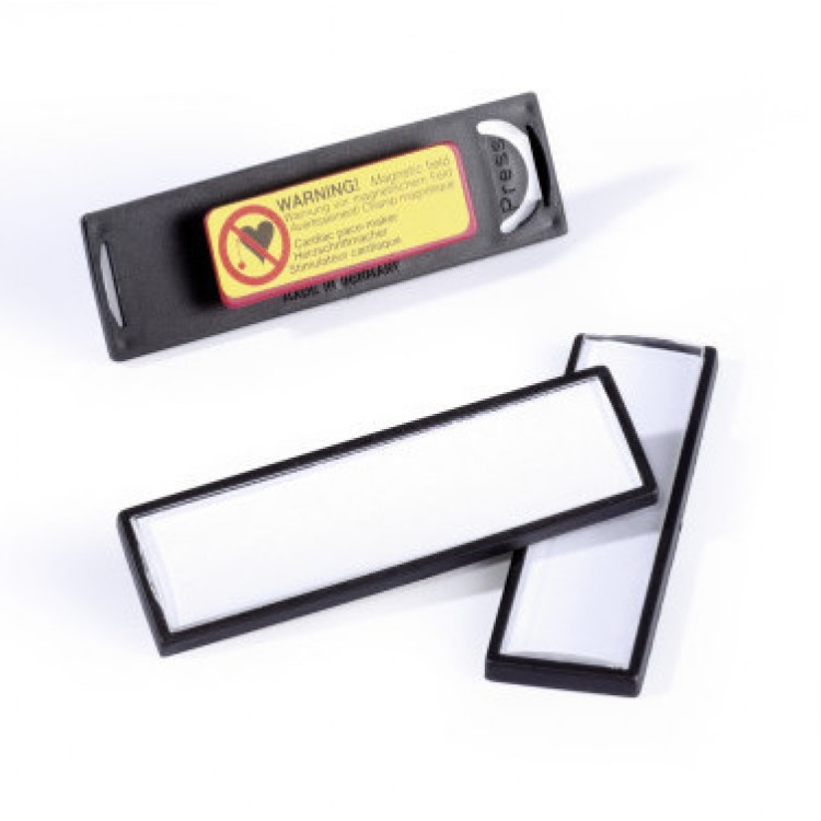 Name Badge Clip Card 8132 With Magnet 67x17mm