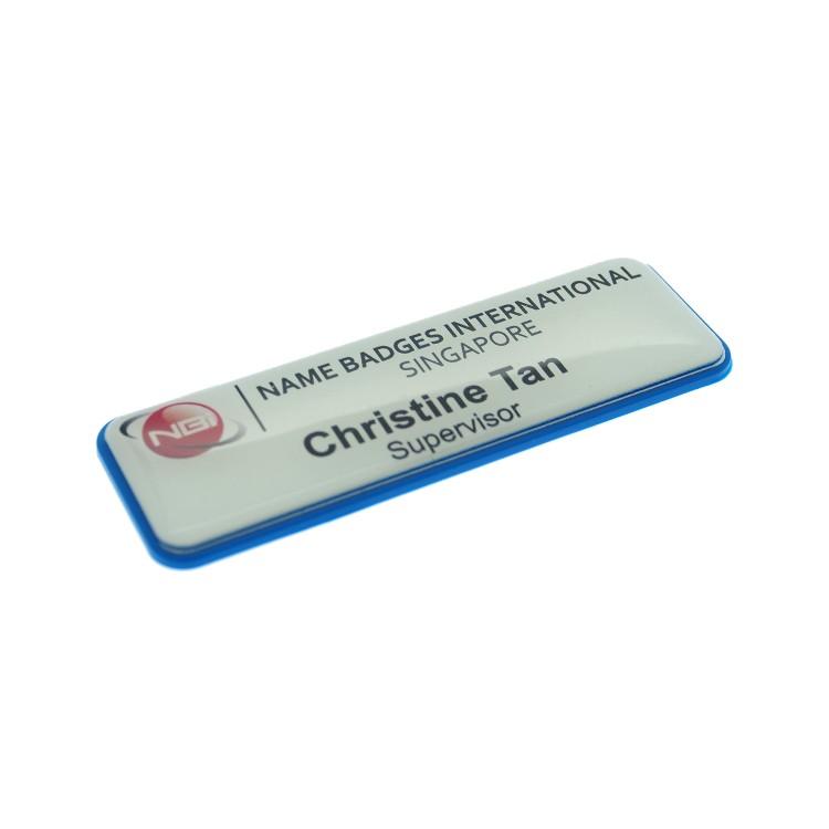 Prestige Name Badge with Blue Border