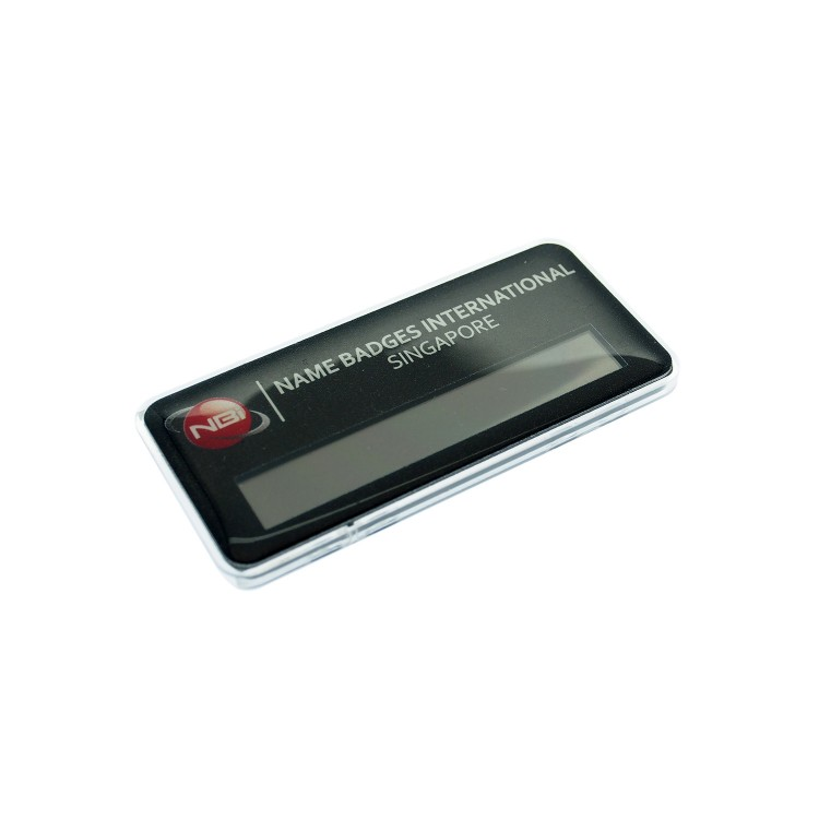 Reusable Name Badge Acrylic 74x35mm