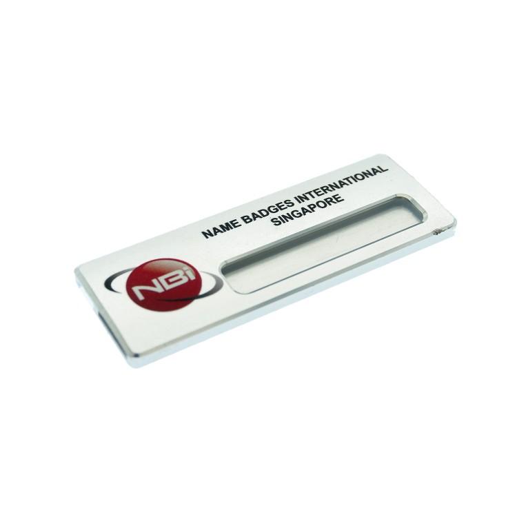 Reusable Name Badge Aluminium 70x25mm